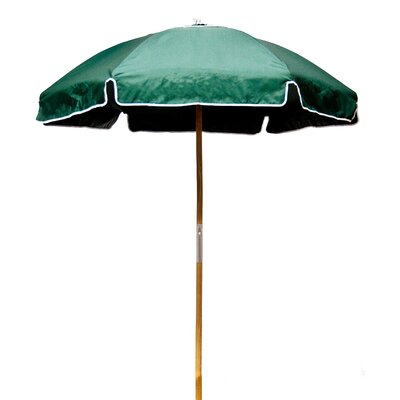 6.5 Beach Umbrella Fabric: Forest Green