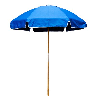 6.5 Beach Umbrella Fabric: Pacific Blue