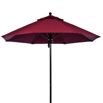 FRANKFORD UMBRELLAS 11 ft. Octagonal Commercial Grade Fiberglass Market Umbrella - Fabric: Burgundy, Pole Type: Black Coated Aluminum Pole