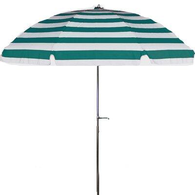 7.5 Drape Umbrella Fabric: Teal and White Stripe