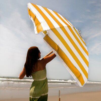 FRANKFORD UMBRELLAS 7.5' Commercial Grade Striped Beach Umbrella - Fabric: