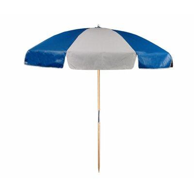 7.5 Beach Umbrella Color: Royal and White