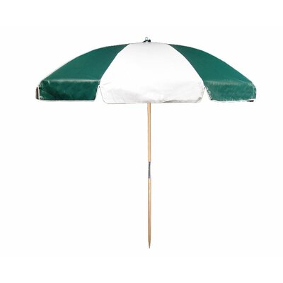 7.5 Beach Umbrella Color: Forest and White