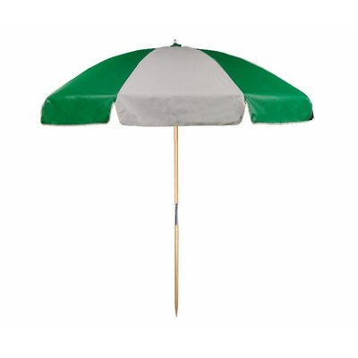 7.5 Beach Umbrella Color: Kelly and White
