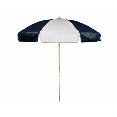 7.5 Beach Umbrella Color: Navy Blue and White
