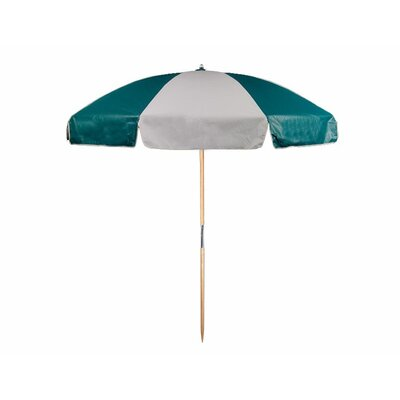 7.5 Beach Umbrella Color: Teal and White