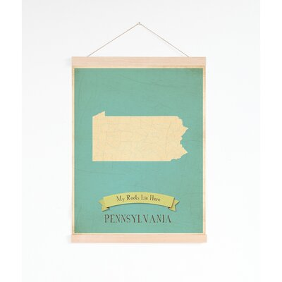 My Roots Pennsylvania Personalized Map Tapestry Graphic Art On Canvas
