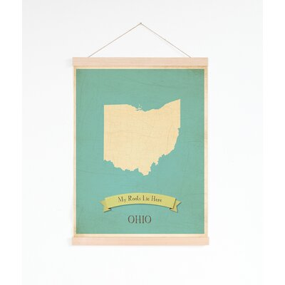 My Roots Ohio State Personalized Map Tapestry Graphic Art On Canvas