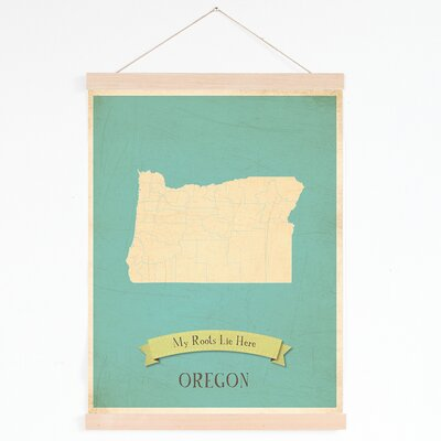 My Roots Oregon Personalized Map Tapestry Graphic Art On Canvas