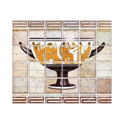 Antique Vase 2 Kitchen Tile Mural in Multi-Colored Size: 18 x 42