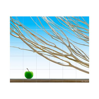 Branches Kitchen Tile Mural in Multi-Colored Size: 30 x 42