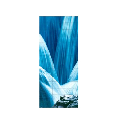 Waterfall Shower Tile Mural in Multi-Colored Size: 96 x 36