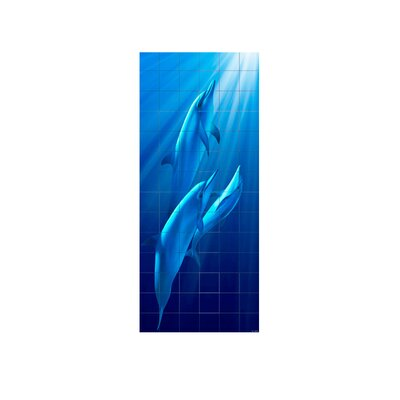 Dolphins Shower Tile Mural Size: 96