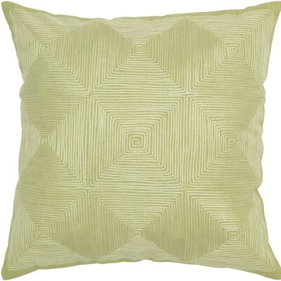 Decorative Accent Pillow Embroidered Details Color: Light Green