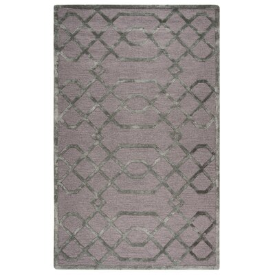 Monroe Hand-Tufted Gray/Silver Area Rug Size: 8' x 10'
