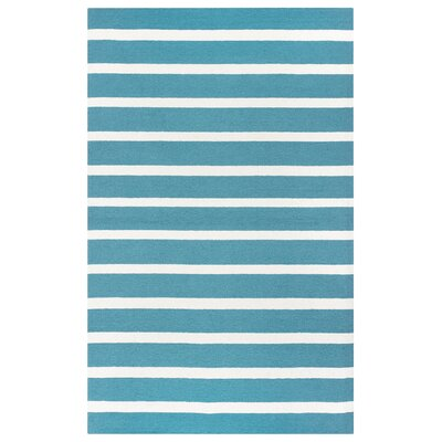 Azzura Hill Hand-Tufted Teal Indoor/Outdoor Area Rug Size: 76 x 96