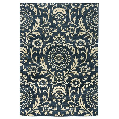 Carrington Black Area Rug Rug Size: 53 x 77
