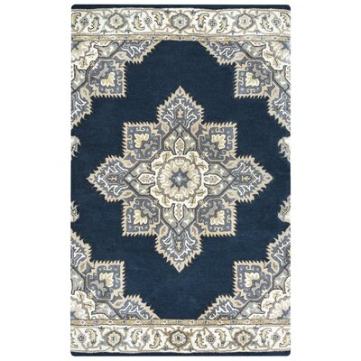 Valley Hand-Tufted Indigo Area Rug Rug Size: Rectangle 5 x 8