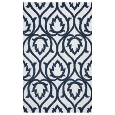 Gillmore Hand-Tufted Blue/Beige Area Rug Rug Size: Rectangle 9 x 12