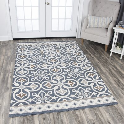 Nordmeyer Hand-Tufted Blue/Gray Area Rug Rug Size: Rectangle 10 x 13
