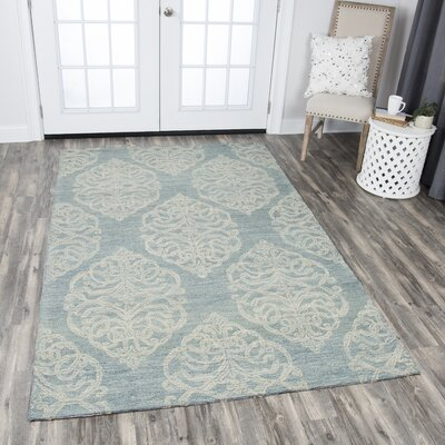 Nordmeyer Hand-Tufted Light Blue Area Rug Rug Size: 10 x 13