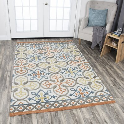 Nordmeyer Hand-Tufted Natural Wool Area Rug Rug Size: Rectangle 8 x 10