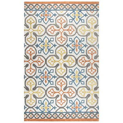 Nordmeyer Hand-Tufted Natural Wool Area Rug Rug Size: 5 x 8
