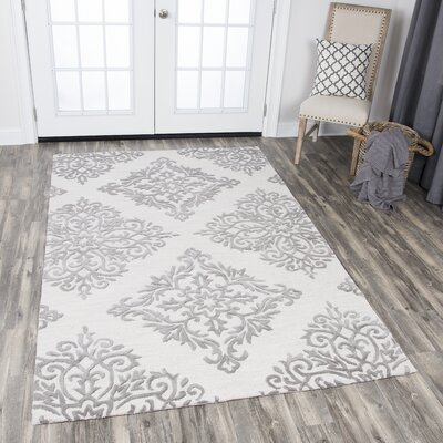 Pohl Hand-Tufted Natural Area Rug Rug Size: Rectangle 8 x 10