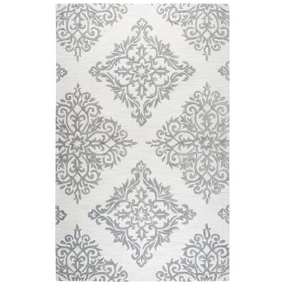 Pohl Hand-Tufted Natural Area Rug Rug Size: Rectangle 5 x 8