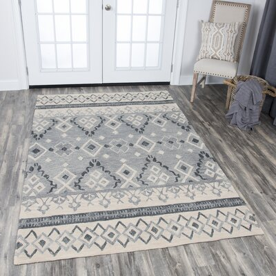 Sorensen Hand-Tufted Natural Wool Area Rug Rug Size: 10 x 13