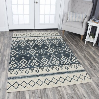 Sorensen Hand-Tufted Rectangle Natural Area Rug Rug Size: 5 x 8