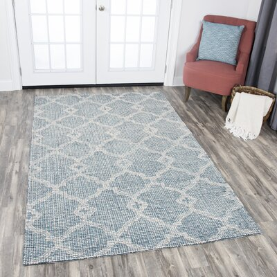 Sorensen Hand-Tufted Gray Area Rug Rug Size: Rectangle 8 x 10