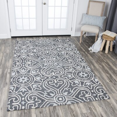 Nordmeyer Hand-Tufted Gray Area Rug Rug Size: Rectangle 8 x 10