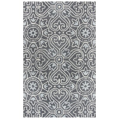 Nordmeyer Hand-Tufted Gray Area Rug Rug Size: Rectangle 5 x 8