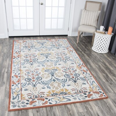 Nordmeyer Hand-Tufted Natural Area Rug Rug Size: 9 x 12