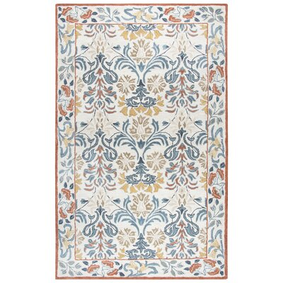 Nordmeyer Hand-Tufted Natural Area Rug Rug Size: 5 x 8