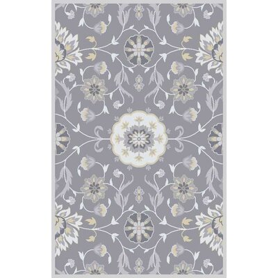 Polen Hand-Tufted Gray Area Rug Rug Size: Rectangle 10 x 13