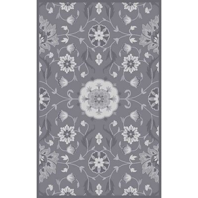 Polen Hand-Tufted Dark Taupe Area Rug Rug Size: Rectangle 10 x 13