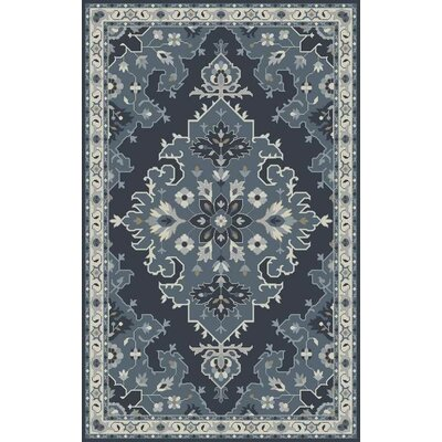 Polen Hand-Tufted Dark Gray Area Rug Rug Size: 5' x 8'
