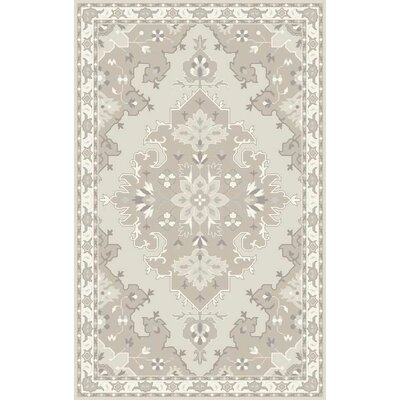 Landrienne Hand-Tufted Tan Area Rug Rug Size: Rectangle 10 x 13