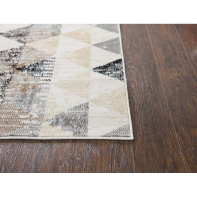 Short Ivory Area Rug Rug Size: Rectangle 52 x 73