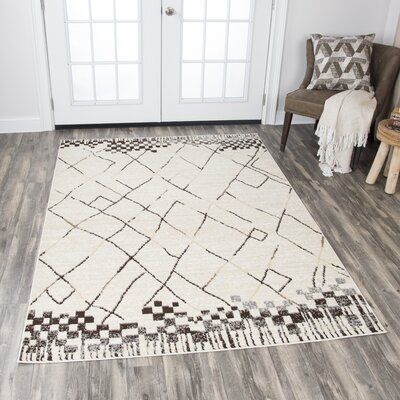 Bowen Beige Area Rug Rug Size: Rectangle 8 x 10