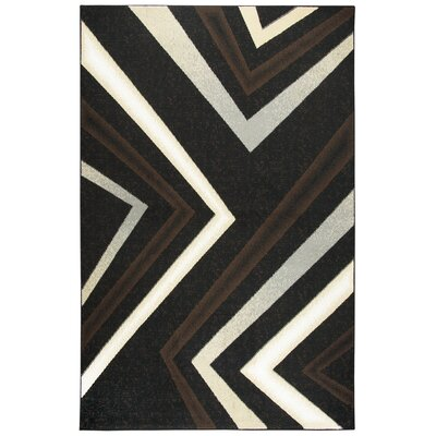 Ketron Black Area Rug Rug Size: Rectangle 52 x 73