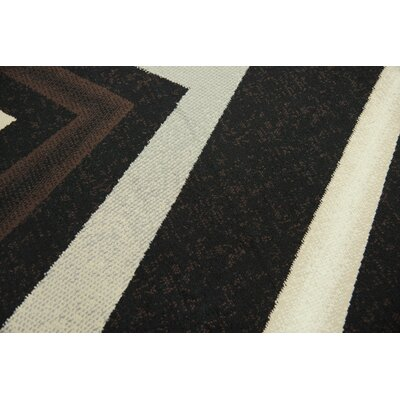 Ketron Black Area Rug Rug Size: Rectangle 8 x 10