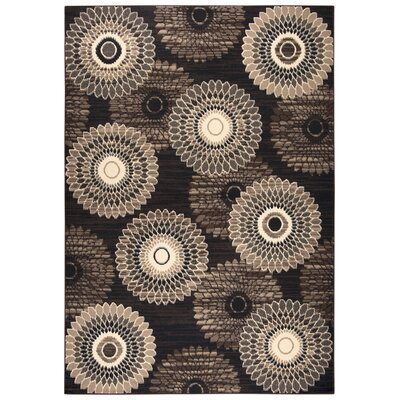 Burrill Brown/Gold Area Rug Rug Size: Rectangle 52 x 73