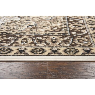 Burrell Ivory Area Rug Rug Size: Rectangle 52 x 73