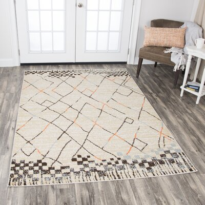 Kiley Ivory Area Rug Rug Size: Rectangle 8 x 10