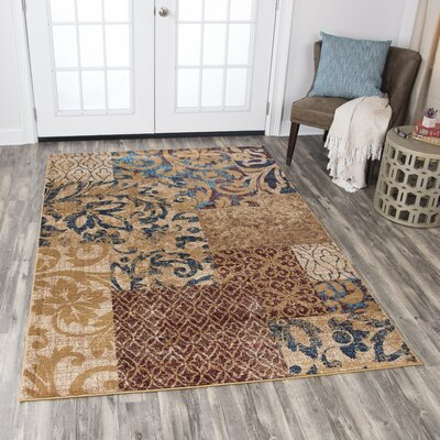 Phillip Gold Area Rug Rug Size: 8 x 10