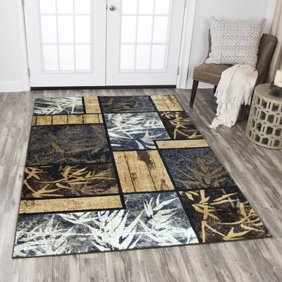 Phillip Gold Area Rug Rug Size: Rectangle 8 x 10