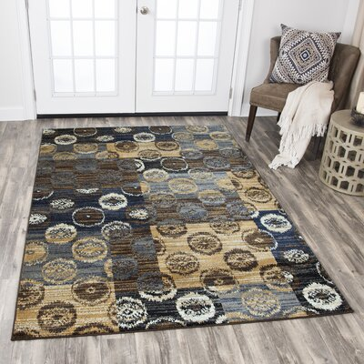 Phillip Beige/Brown Area Rug Rug Size: 52 x 73
